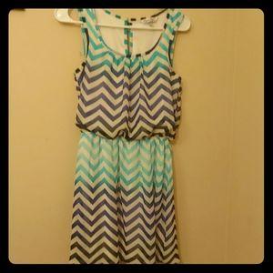 Multi Blue Colored Sun Dress
